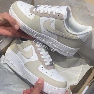 Nike Air Force 1 customs nude
